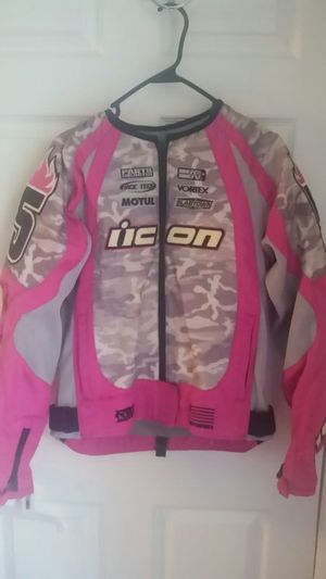 Icon women's motorcycle jacket for Sale in West Palm Beach, FL