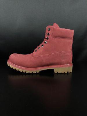 Timberland Burgundy Premium 6 inch Boots Men's for Sale in Anaheim, CA