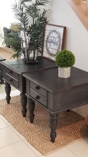 2 MATCHING END TABLES W DRAWER(MATCHING COFFEE TABLE IS AVAILABLE)/OR NIGHT STANDS SET for Sale in Chino Hills, CA