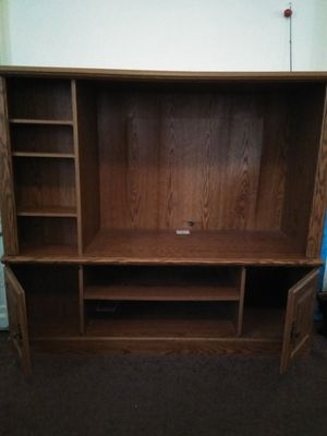 Heavy wooden entertainment center for Sale in Macon, GA