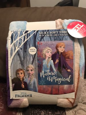 Disney's Frozen II Anna and Elsa. Silky Soft Throw ( Nature is Magical) for Sale in Sioux Falls, SD