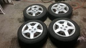 All season tires with rims and battery for Sale in Plattsburgh, NY