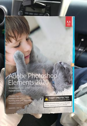 adobe Photoshop elements 2020 Brand new with CD for Sale in West Sacramento, CA