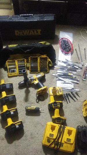 Dewalt 18 v Sawzaw and Hammer drill with batteries and chargers for Sale in Greenville, SC