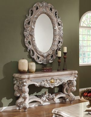 Console table with mirror on sale only at elegant Furniture 🎈🛋 for Sale in Fresno, CA