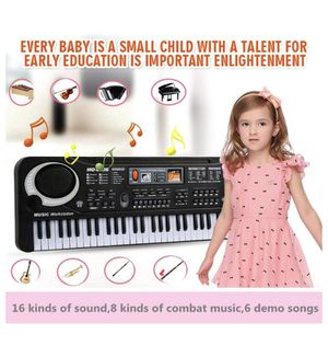 Piano Keyboard Music Piano Electric Keyboards for kids Musical Instrument USB multi-function w/Microphone Weighted keys Birthday Christmas Festival G for Sale in Tustin, CA