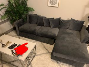 Gray sectional couch for Sale in Morrisville, NC