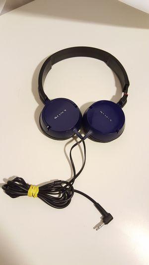Portable Audio Sony Blue Overhead Headphones 3.5mm for Sale in Fresno, CA