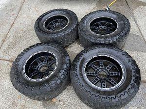 20x10 -24 8x170 XD Black Rims Wheels Tires 38x15.5R20 F350 F250 for Sale in Kent, WA