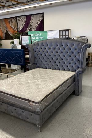 Furniture mattress- Queen bed frame for Sale in North Highlands, CA