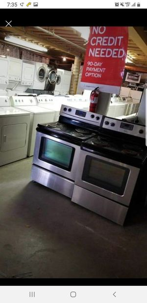 Huge Sale store full of nice reconditioned refrigerator washer dryer stove stackable+financing available available free warranty for Sale in Seattle, WA
