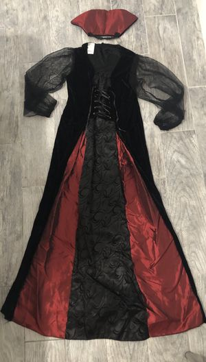 Costume for Halloween Vampire for Girls Size L (10-12) Used once for Sale in North Bay Village, FL