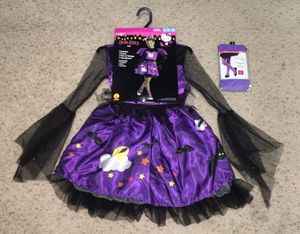 Hello Kitty Bat Costume (Includes Dress, Wings & Headpiece) & Tights Children's Small Size 4-6 for Sale in Austin, TX