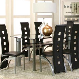 DINING SET 7-pcs NEW IN BOX TABLE WITH 6 chairs JUEGO DE COMEDOR NUEVO EN SU CAJA MESA Y 6 SILLAS for Sale in Miami, FL