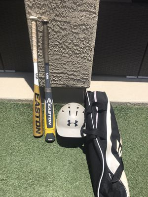 Easton Youth Bat, Bag. Under Armour Helmet for Sale in Gilbert, AZ