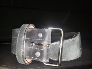 Cowhide and velvet heavy duty back belt weight lifting workout for Sale in Las Vegas, NV