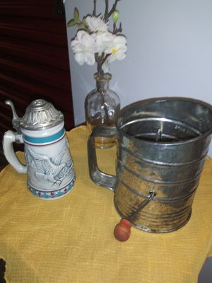 Old sifter. Decoration only use. Old tankard. Decoration use only for Sale in Vancouver, WA