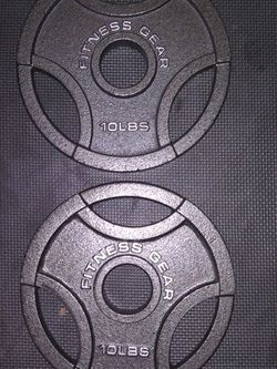 Brand New 10lbs Olympic Plates for Sale in Fresno,  CA