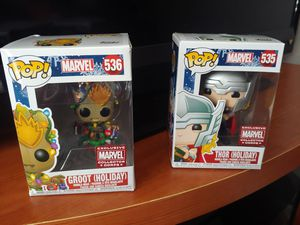 Groot and thor funko for Sale in Irving, TX