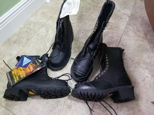2 new Firefighter fireman bunker work steel toe boots Thorogood for Sale in Hollywood, FL