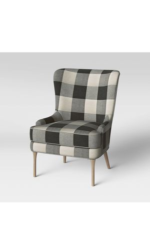 Cheswold wingback chairs check black/white threshold for Sale in Oakhurst, CA