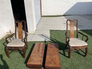2 Table leafs and end chairs for Oriental style dining room table for Sale in Inglewood, CA