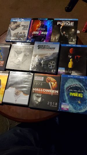 Blu ray and 4k movies for Sale in Los Angeles, CA