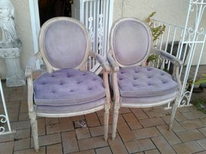 Vintage Pair French Louis XVI Arm Chairs for Sale in Miami, FL