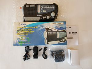 Kaito Dynamo/Solor/AC/Battery 4 way Powered Radio for Sale in Midlothian, IL