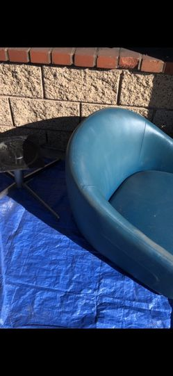 Blue Leather Lounge Chair for Sale in Glendora,  CA