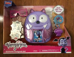 Brand new Vampirina Bootastic Boo-Tastic Backpack Play Set-8 Pieces.(pick up only) for Sale in Alexandria, VA