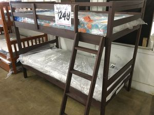 SPECIAL SALE: BRAND NEW Rustic Walnut Stackable Bunk Bed Frame (Reg. $279) IN STOCK! for Sale in San Antonio, TX