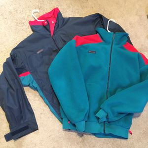 Mens Columbia Jacket & Matching Fleece - Size L for Sale in Rockville, MD