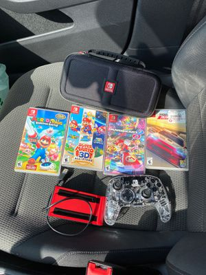 nintendo Switch controller, charging dock, Mario 3d and more for Sale in Westchester, CA