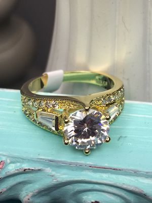 18k Gold Filled Engagement Wedding Ring With Clear CZ Size 7,8 for Sale in Nashville, TN