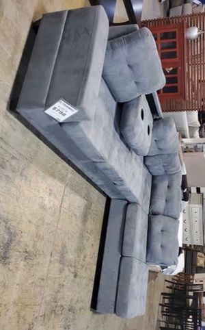 NEW Dark Gray Sectional $39 down payment only /FREE DELIVERY FOR A SHORT TIME// for Sale in Houston, TX