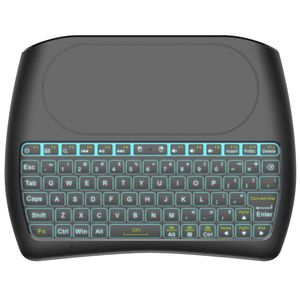 NEW! Backlit Wireless Mini Keyboard with Touchpad RGB Color Backlight Mini Keyboard and Mouse Touchpad Remote Control for Computer, Google or Android for Sale in Stuart, FL