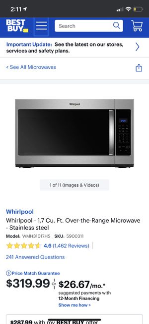 Brand new in box. Owner and renter both bought the same microwave and only needed one. Come pick up $300 obo for Sale in Santee, CA