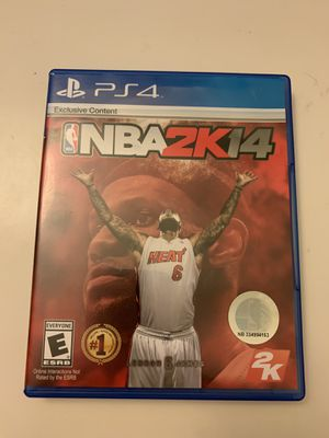 NBA 2k 14 PS4 for Sale in Los Altos, CA