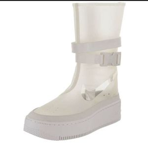 Nike AF1 Airforce 1 Hi Lx Sage phantom white Clear rain Boots women's size 9.5NEW for Sale in Escondido, CA