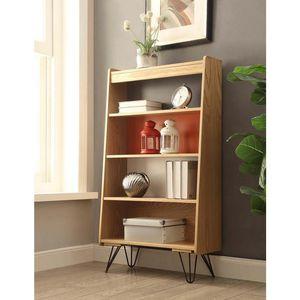 Lino Home Decor Marchall Natural, Charcoal, Orange, White Bookcase for Sale in Union City, CA