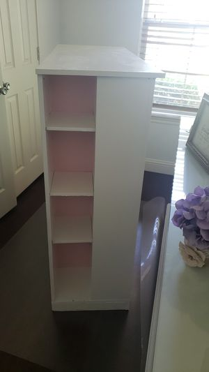Bookcase white and pink for Sale in Oak Point, TX