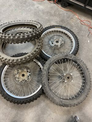 Dirt bike rims and tires for Sale in Fort McDowell, AZ