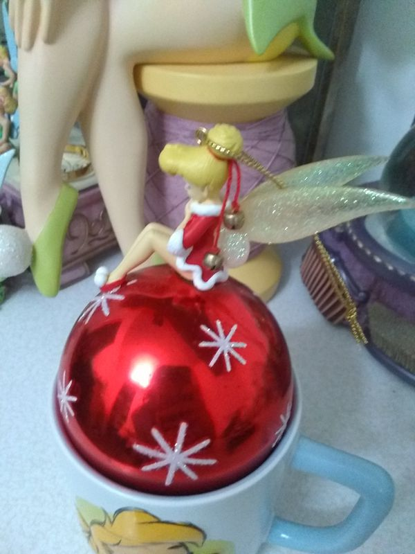 Disneyland Paris Santa Dress Tinker Bell Christmas Ball Ornament