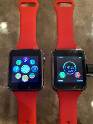 Quality Smartwatch Bluetooth / Cellular Smart watches Support SIM Card Smart Wrist Watches Silicone Strap Smartphone. 70$ For Both for Sale in Beltsville, MD