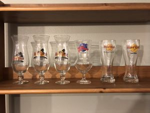 Glasses from Hard Rock and Planet Hollywood for Sale in Canby, OR