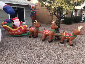 Inflatable-16 ft giant sized LED Santa and Sleigh for Sale in Phoenix, AZ