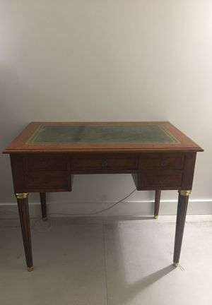 Antique wood desk, leather top for Sale in Miami Shores, FL