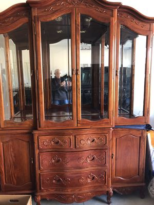 Two-Piece Lighted Hutch & Buffet for Sale in Bend, OR
