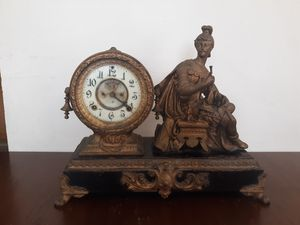 Victory figure antique clock for Sale in Lowell, MA